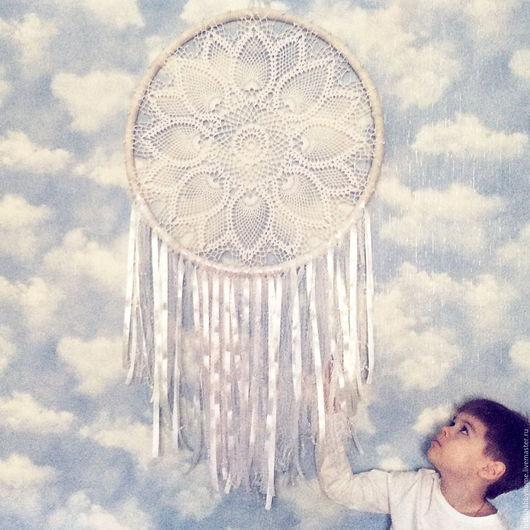 Подвески ручной работы. Ярмарка Мастеров - ручная работа. Купить Angels Wings. Дизайнерский ловец снов. Бохо. Handmade. Белый