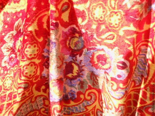 Шитье ручной работы. Ярмарка Мастеров - ручная работа. Купить Плюш винтажный цветной. Handmade. Разноцветный, плюш цветной