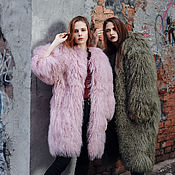 Одежда handmade. Livemaster - original item A long coat made of llama hooded.. Handmade.