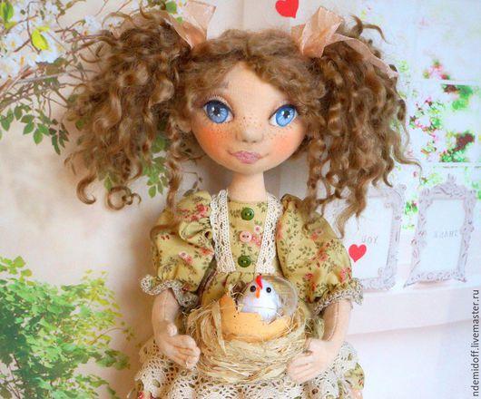 Коллекционные куклы ручной работы. Ярмарка Мастеров - ручная работа. Купить Веснушка Авторская текстильная кукла. Handmade. Весна, кукла