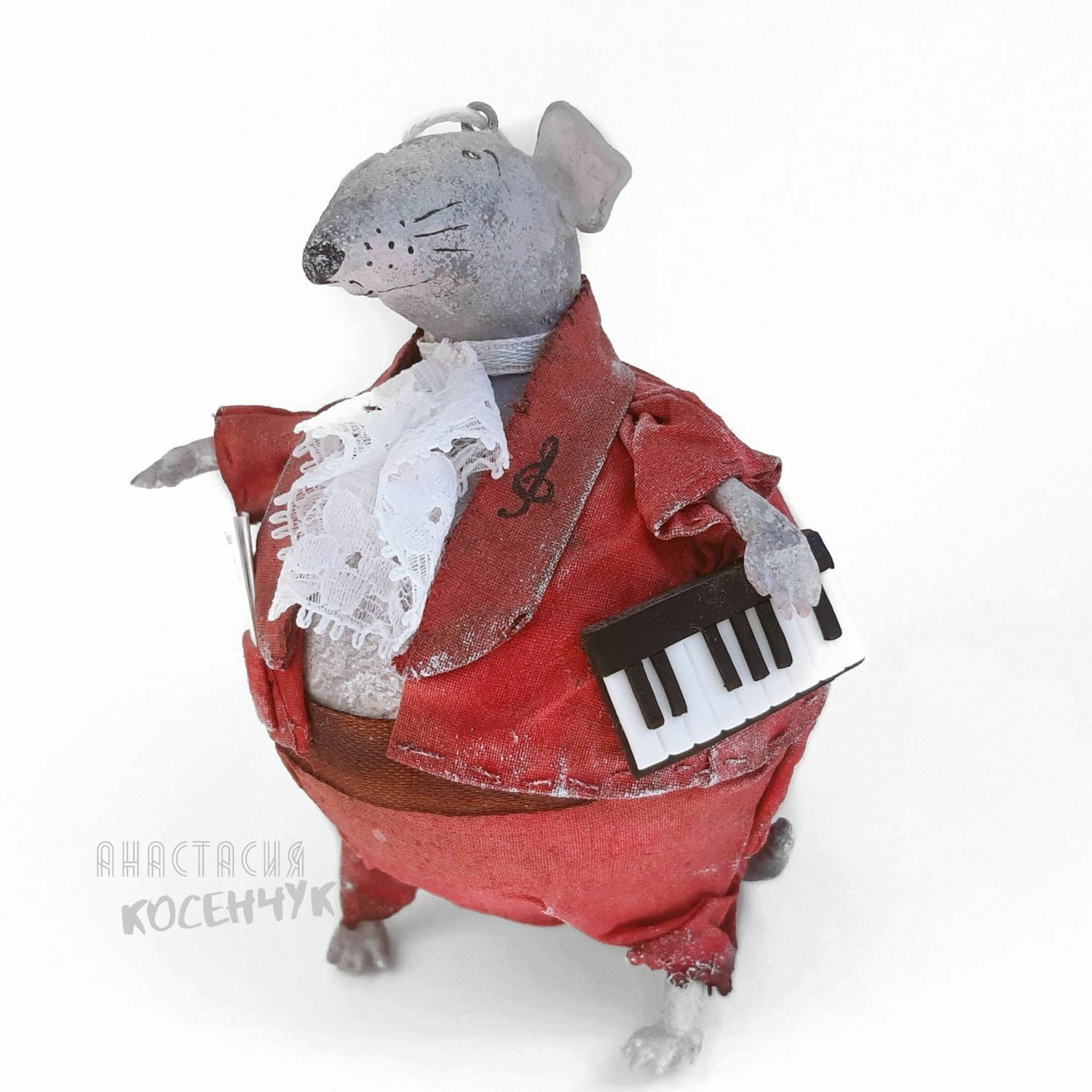 Toy interior Mouse, Christmas tree toy for Christmas tree Musician. papier-mache, Toys, Tomsk,  Фото №1