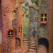"""Картины и панно ручной работы. Ярмарка Мастеров - ручная работа """"Отель """"Деревья"""" объемное панно. Handmade."""