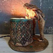 Для дома и интерьера ручной работы. Ярмарка Мастеров - ручная работа Керамическая лампа-ночник «Светлое будущее». Handmade.