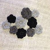 Украшения handmade. Livemaster - original item Knitted flowers roses. Handmade.