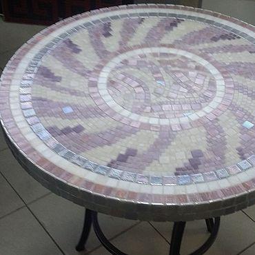 """Мебель ручной работы. Ярмарка Мастеров - ручная работа Мозаика, Стол """"Круг в круге"""". Handmade."""