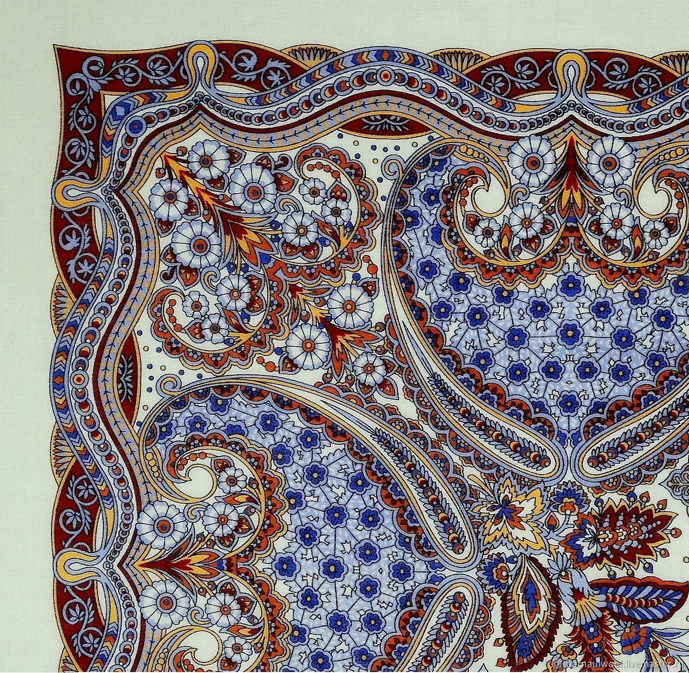 Лоскут. Павловопосадский платок № 798, Шерсть, Барнаул, Фото №1
