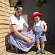 """Одежда для мальчиков, ручной работы. Ярмарка Мастеров - ручная работа. Купить Familylook для мамы и сына """"Пора на море"""". Handmade. Комплект"""