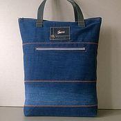 Сумки и аксессуары handmade. Livemaster - original item Ekosumki: Denim shopping bag GUCCI. Handmade.