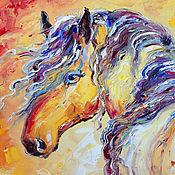 """Картины и панно ручной работы. Ярмарка Мастеров - ручная работа Картина """"Лошадь Цыганка"""" картина маслом с лошадью. Handmade."""