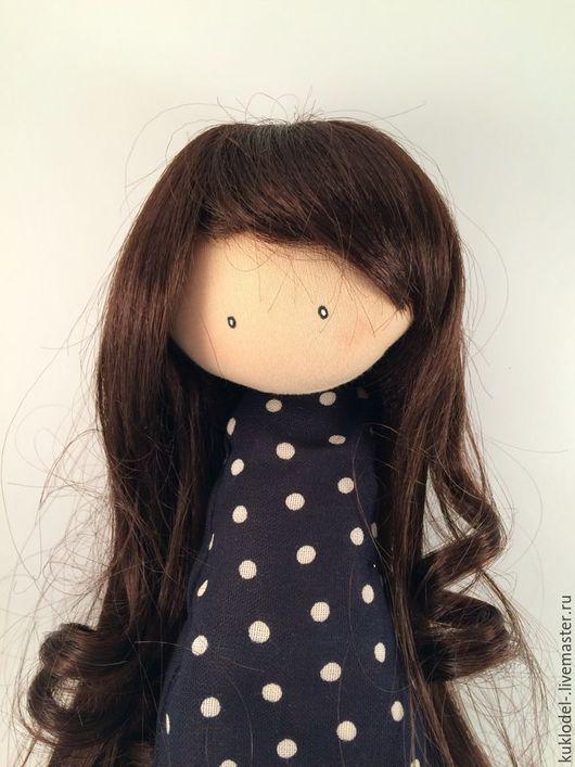 Куклы и игрушки ручной работы. Ярмарка Мастеров - ручная работа. Купить Парик для кукол каштан 23 см. Handmade.