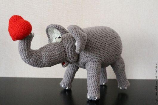 Игрушки животные, ручной работы. Ярмарка Мастеров - ручная работа. Купить Слоник. Handmade. Вязание крючком, слон, интерьерная игрушка