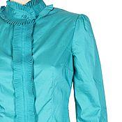 Одежда handmade. Livemaster - original item Turquoise blouse. Handmade.