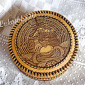 Русский стиль handmade. Livemaster - original item Box of birch bark