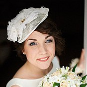 Свадебный салон handmade. Livemaster - original item Wedding hat Ala France. Handmade.