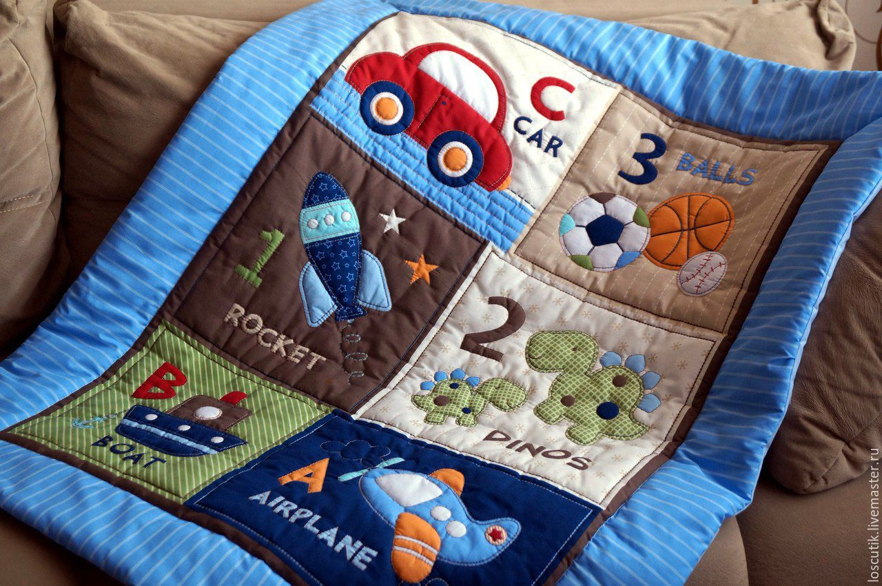 Детское одеяло стеганое