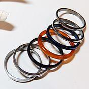 Украшения handmade. Livemaster - original item A set of rings 20 size No. №6 (carnelian, silver, black, blue). Handmade.
