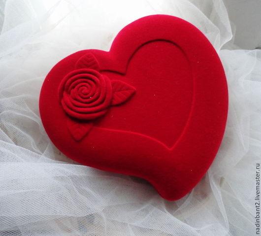 """Упаковка ручной работы. Ярмарка Мастеров - ручная работа. Купить Футляр """"Сердце с Розой"""". Резерв для Аленушки. Handmade. Бордовый, упаковка"""