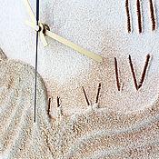 """Для дома и интерьера ручной работы. Ярмарка Мастеров - ручная работа """"Пески времени"""" из песка настенные часы. Handmade."""