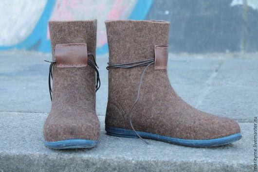 """Обувь ручной работы. Ярмарка Мастеров - ручная работа. Купить Валенки демисезонные """"Style """"mari_tyme"""". Handmade. Коричневый, ручная валка"""