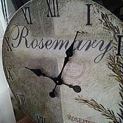 Для дома и интерьера ручной работы. Ярмарка Мастеров - ручная работа Часы большие 40 см деревянные настенные на заказ W0319. Handmade.