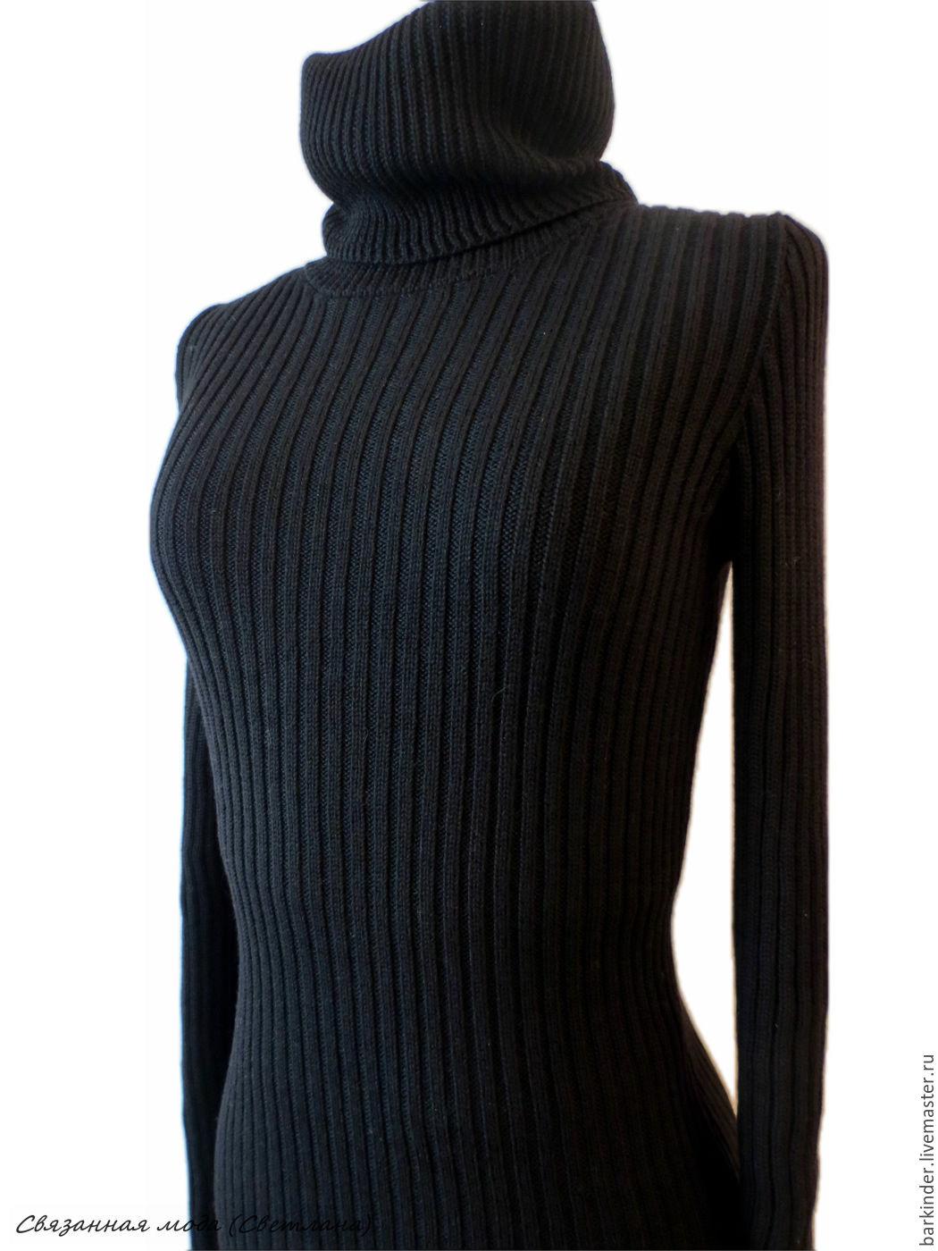 Платье вязаные резинкой