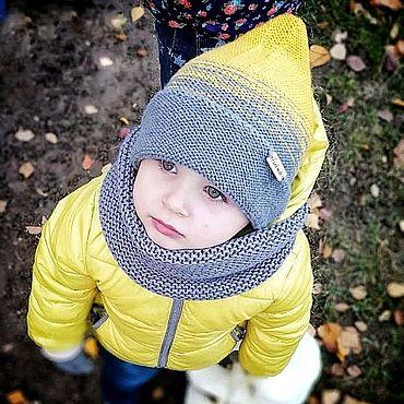 Товары для малышей ручной работы. Ярмарка Мастеров - ручная работа Комплект шапка гномик и снуд. Handmade.