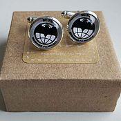 Украшения handmade. Livemaster - original item Cufflinks silver plated Military intelligence. Handmade.
