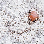 Украшения ручной работы. Ярмарка Мастеров - ручная работа Брошь булавка с агатом для вязанных вещей. Handmade.