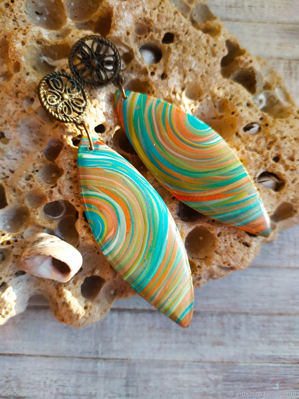 Handmade earrings. Spring. Boho ethno earrings, Earrings, Zelenograd,  Фото №1
