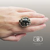 Украшения handmade. Livemaster - original item Gold ring with Cheryl and CZ. 585.. Handmade.