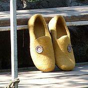 """Обувь ручной работы. Ярмарка Мастеров - ручная работа Тапочки """"Золотой песок"""". Handmade."""