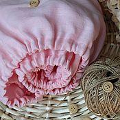 Комплект белья в кроватку ручной работы. Ярмарка Мастеров - ручная работа Текстиль: Простыни из 100% льна в детскую кроватку. Handmade.