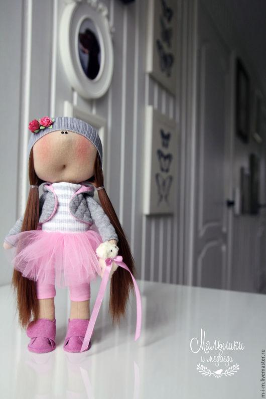 Коллекционные куклы ручной работы. Ярмарка Мастеров - ручная работа. Купить Малышка в розовом. Handmade. Розовый, dolls, интерьерная кукла