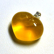 Украшения handmade. Livemaster - original item Amber. Heart Pendant