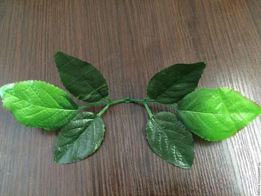 Материалы для флористики ручной работы. Ярмарка Мастеров - ручная работа. Купить Лист розы(крупный). Handmade. Тёмно-зелёный, искусственная зелень