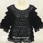 Одежда handmade. Livemaster - original item Blouse Summer evening crochet.. Handmade.