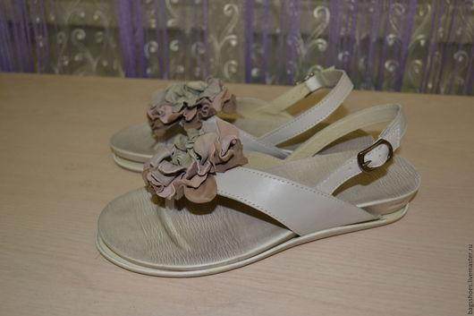 """Обувь ручной работы. Ярмарка Мастеров - ручная работа. Купить Обувь на лето""""Пудра"""". Handmade. Обувь на лето, пудра, эйвори"""
