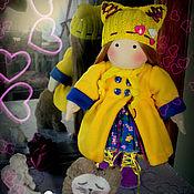 Текстильная кукла Киса, игровая текстильная кукла