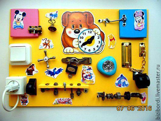 Развивающие игрушки ручной работы. Ярмарка Мастеров - ручная работа. Купить Бизиборд от Георгия -23. Handmade. Комбинированный, бизиборд, Монтессори