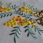 Подарки к праздникам ручной работы. Ярмарка Мастеров - ручная работа Полотенце льняное  с вышивкой. Handmade.