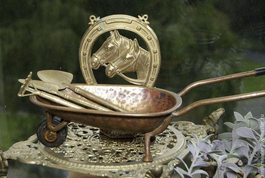 Винтажные предметы интерьера. Ярмарка Мастеров - ручная работа. Купить Инструменты для цветоделия Луиза в кувшине для ухода за бонсай. Handmade.