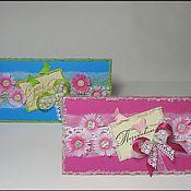 Открытки ручной работы. Ярмарка Мастеров - ручная работа Открытка-конверт с кармашком для денег. Handmade.
