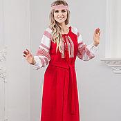 Русский стиль handmade. Livemaster - original item Traditional Russian linen dress Fertility. Handmade.