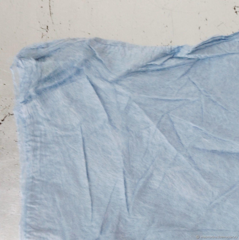 Шелковые квадраты 10 гр для валяния голубые DHG; silk mulber, Волокна, Санкт-Петербург,  Фото №1
