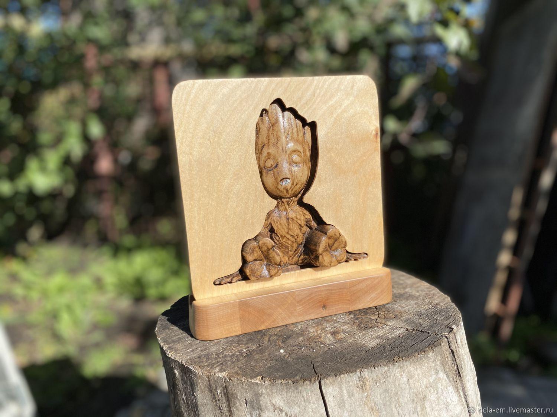 3D ночник из дерева с пультом. Персонаж Грут, Ночники, Барнаул,  Фото №1