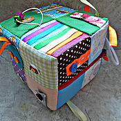 Кукольная еда ручной работы. Ярмарка Мастеров - ручная работа Развивающий кубик Печворг. Handmade.
