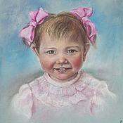 """Картины и панно ручной работы. Ярмарка Мастеров - ручная работа """"Портрет девочки"""" пастелью. Handmade."""
