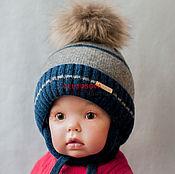 """Работы для детей, ручной работы. Ярмарка Мастеров - ручная работа Шапка """" Классичсекая """" зимняя , теплая , для мальчика .. Handmade."""