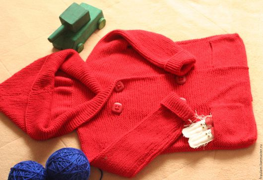 Одежда унисекс ручной работы. Ярмарка Мастеров - ручная работа. Купить Детский кардиган.. Handmade. Ярко-красный, для мальчиков