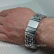 "Украшения handmade. Livemaster - original item Bracelet ""BiG Double-row Bismarck"" sterling silver 925. Handmade."